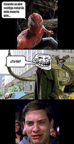 Violencia psicológica contra Spiderman