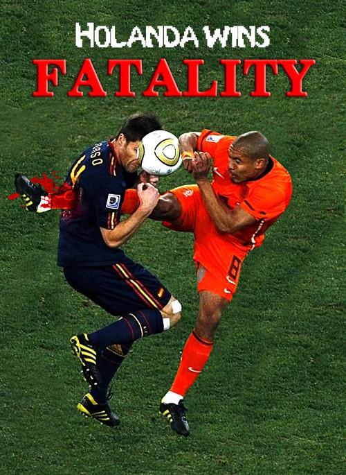 Patada De Jong a Alonso powered by Mortal Kombat