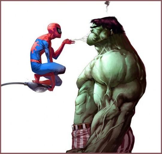 No tan super héroes:Batman, spyder man, hulk y flash