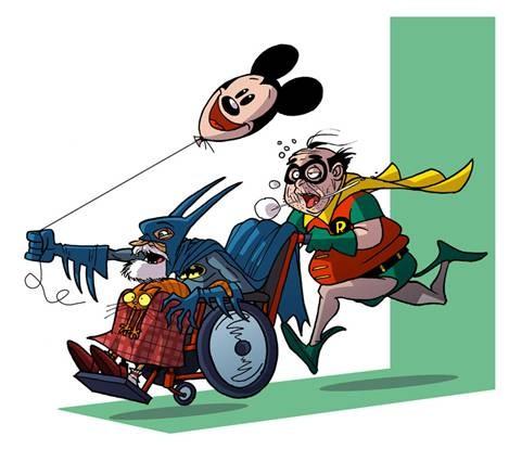 Batman y Robin en la tercera edad