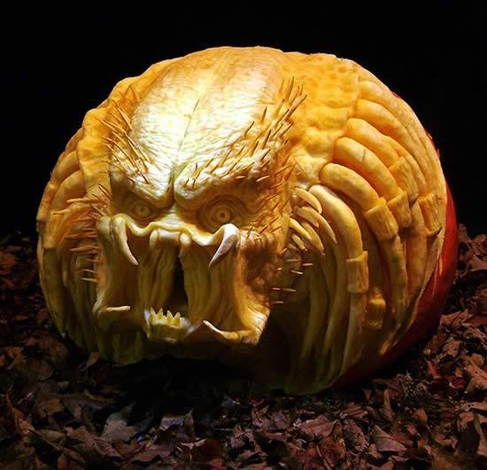 Calabaza de halloween predator