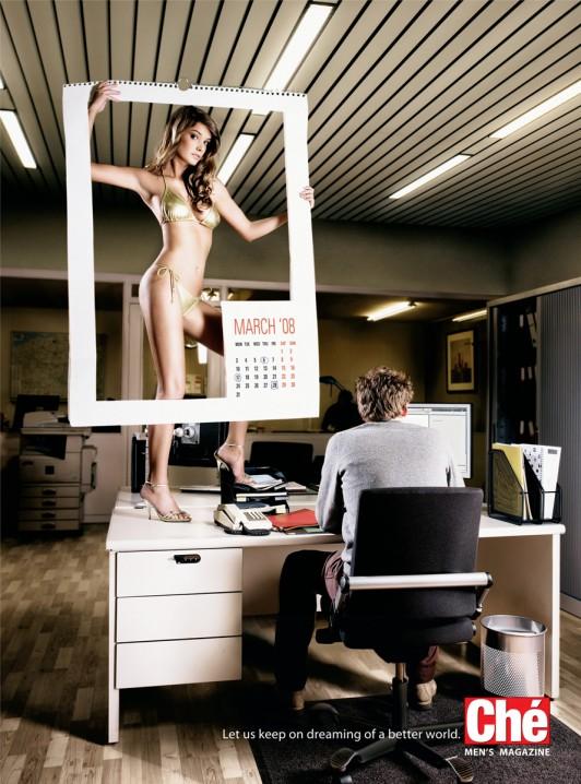 Calendario de oficina muy realista