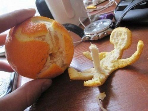 Como no pelar una naranja