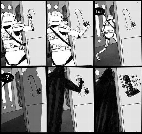 Darth Vader hace un graffiti