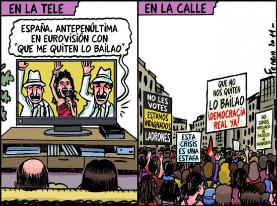 En la tele vs En la calle
