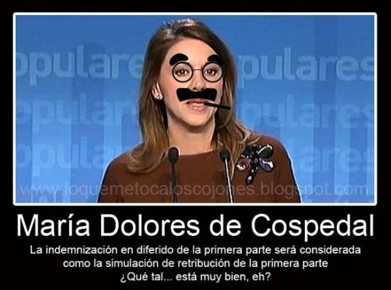 Dolores de Cospedal imitando a Groucho Marx