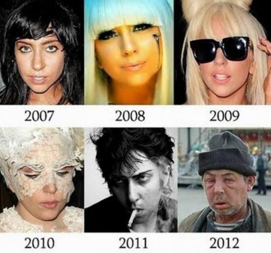 Lady Gaga antes y después