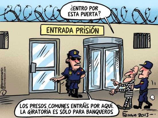 Puerta para banqueros que van a la cárcel