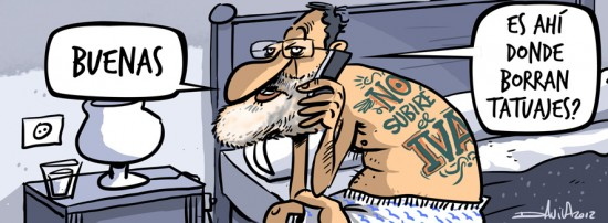 Rajoy: ¿Es ahí donde borran tatuajes?