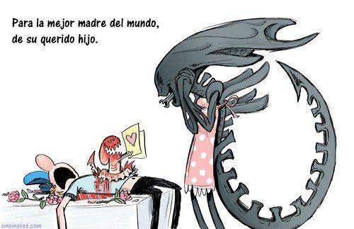 Día de la madre en casa de Alien