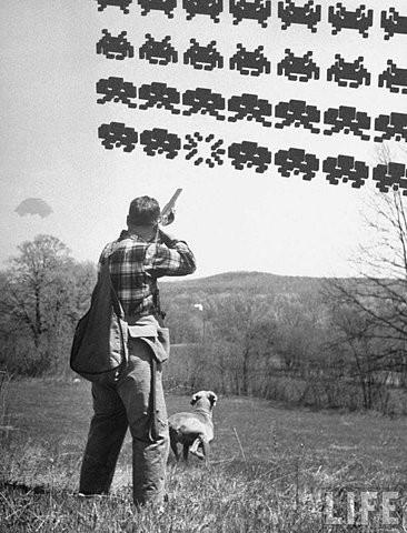 Space Invaders retro
