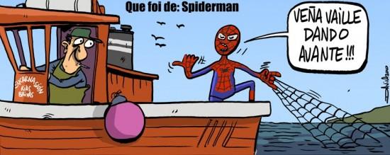 Spiderman pescando
