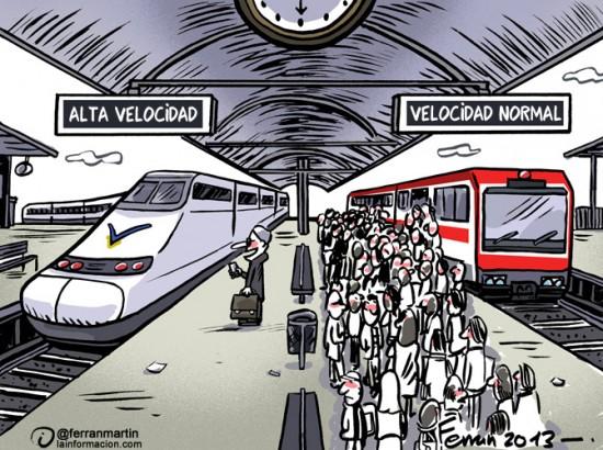 Tren de alta velocidad (AVE) vs tren normal