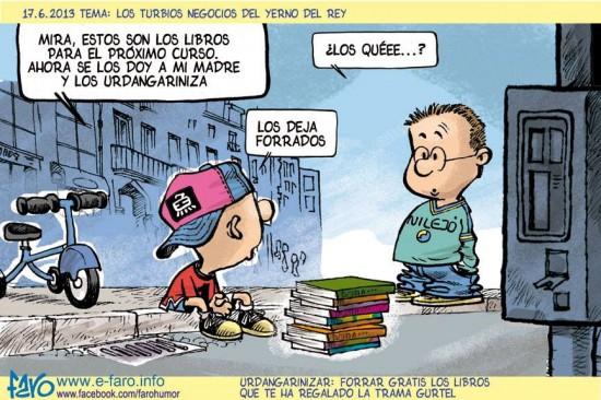 Dejar los libros como Urdangarín