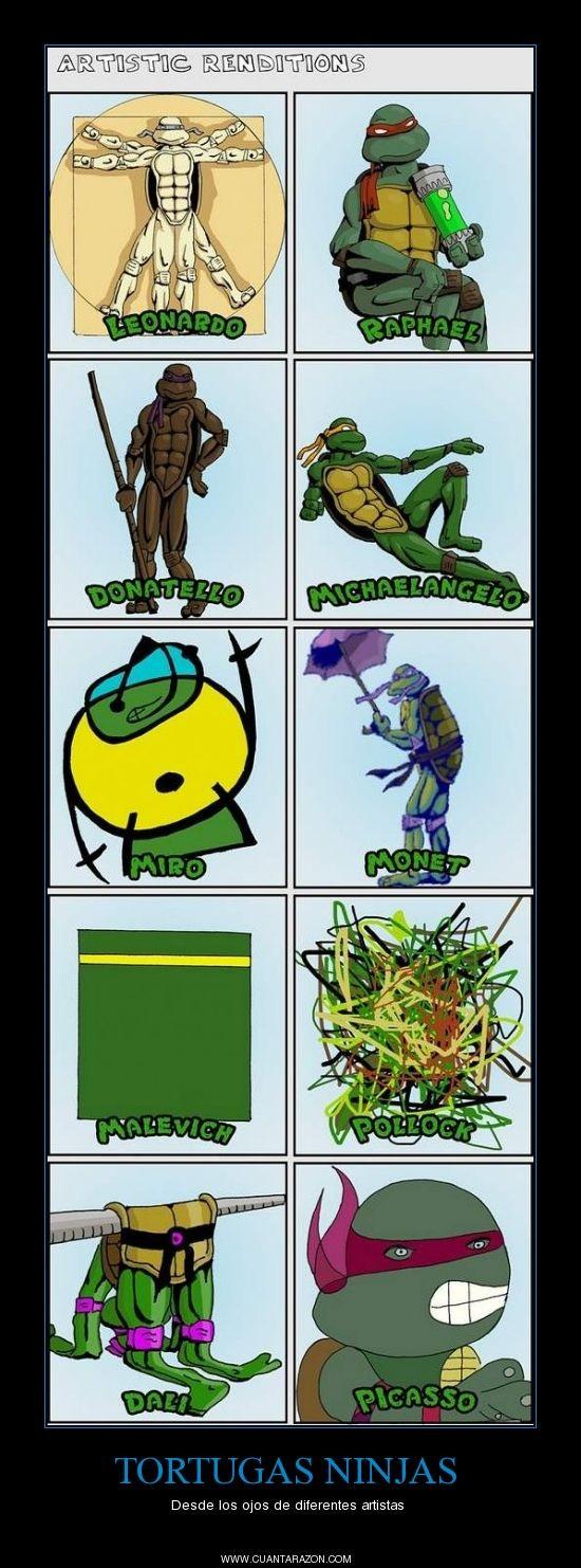 Las Tortugas Ninjas vistas desde los ojos de diferentes artistas