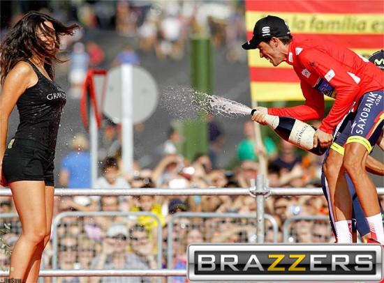 La celebración de Alberto Contador