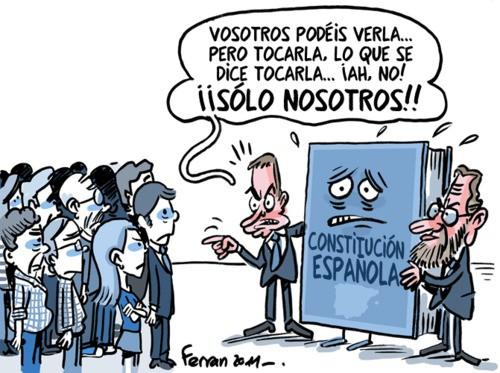 ¿Quien puede tocar la constitución española?