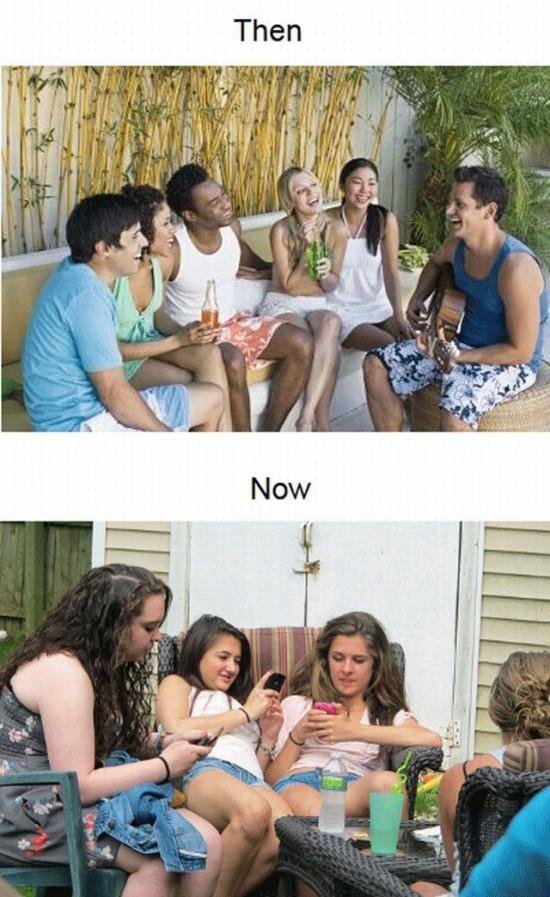 Fiestas antes y después de los smartphones