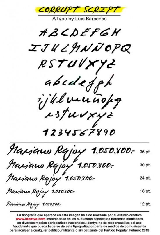 Corrupt Script, el tipo de letra ideal para tu contabilidad!!!