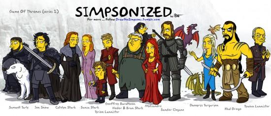 Juego de Tronos a lo Simpsons
