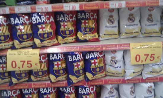 Patatas Fritas del Barça y Real Madrid