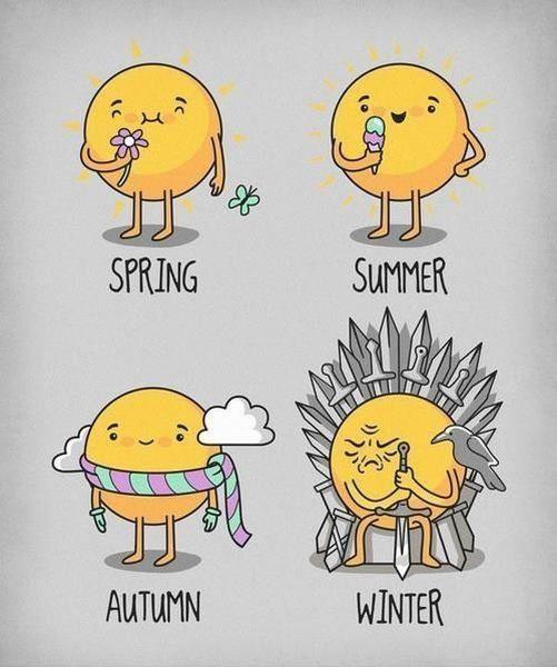 Las estaciones según Juegos de Tronos