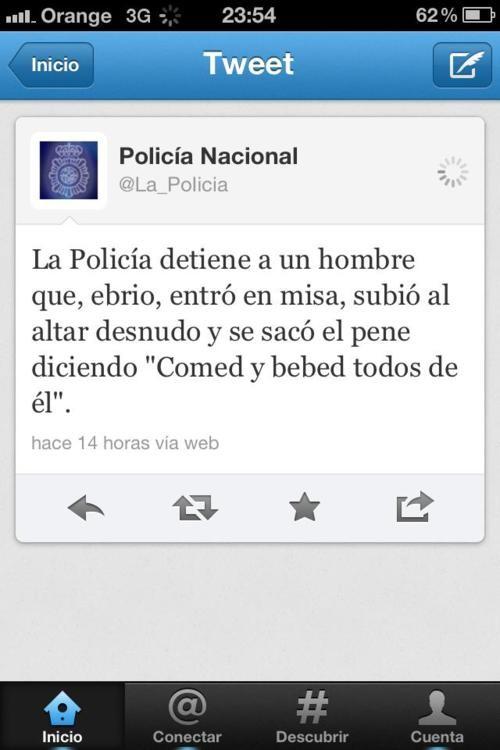 Twitter de la policía