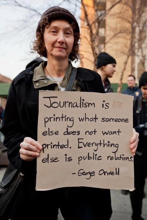 Definición de periodismo de George Orwell