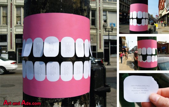 Anuncio creativo de dentista