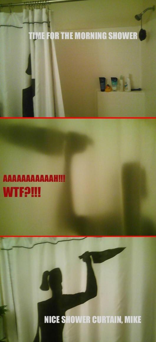 Cortina de ducha de Psicosis