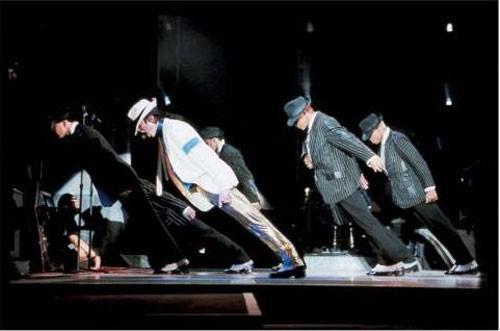 Michael Jackson - Imagen y explicación truco de inclinación 45 grados