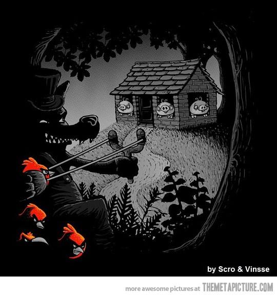 Los tres cerditos versión Angry Birds