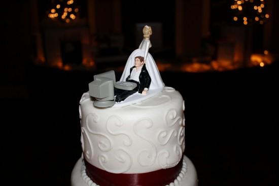 Tarta de boda de un geek