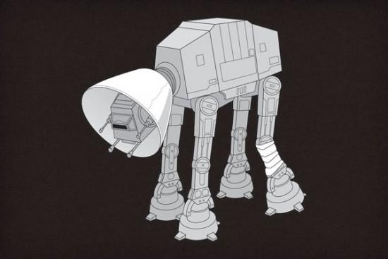 Caminante de Star Wars herido