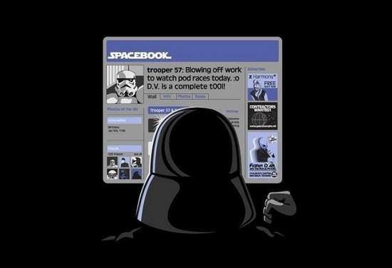El facebook de Darth Vader