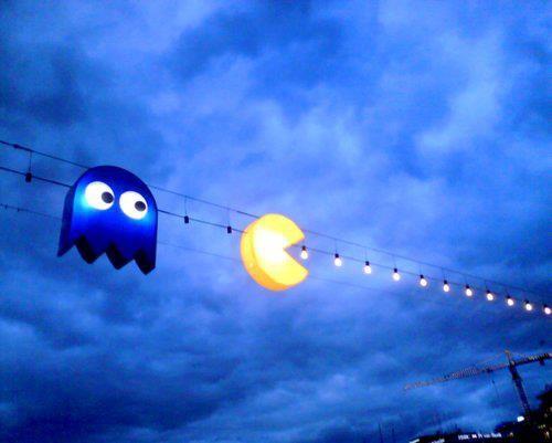 Luces de Navidad de Pacman