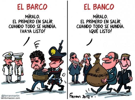 Diferencia entre Barco y Banco