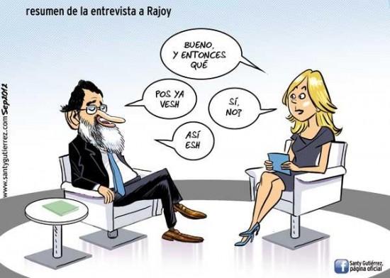 La entrevista de Rajoy en televisión Española