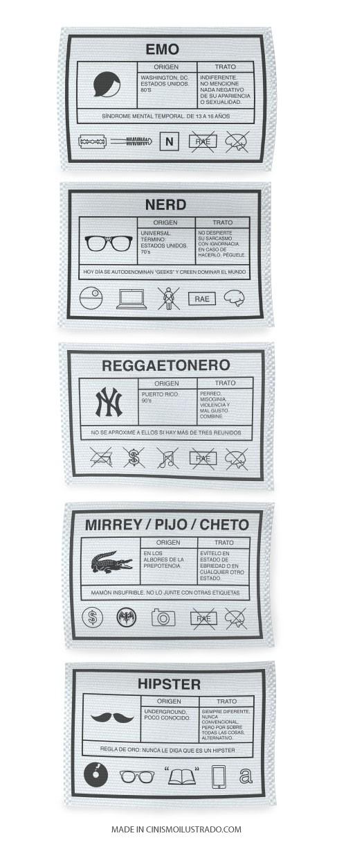 Etiquetas de grupos sociales