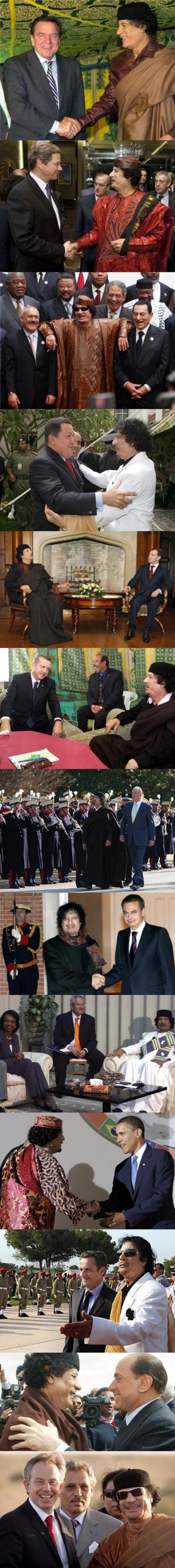 Gadafi y sus amigos