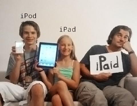 iPod iPad iPaid
