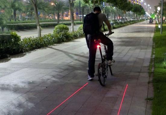 Genial luz trasera de bicicleta