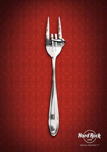 El tenedor del Hard Rock Café