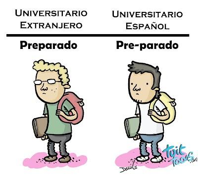 Universitarios preparados y pre-parados