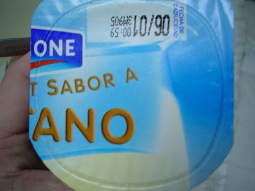 Yogur de sabor desagradable