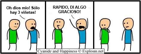 Cyanide y Happiness en español - minimalista