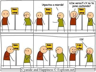 Cyanide y Happiness en español - Mierda!