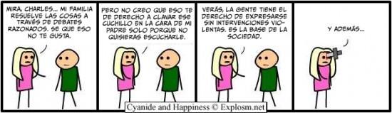 Cyanide y Happiness en español - amores que matan