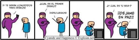 Cyanide y Happiness en español - 3 deseos