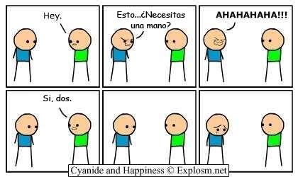 Cyanide y Happiness en español - Arrepentido